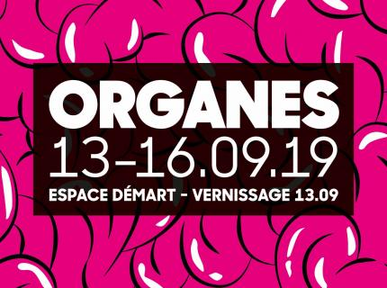 affiche exposition: Organes - recto